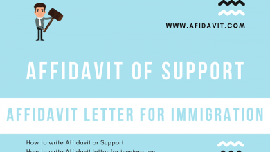 How To Write An Affidavit Of Support Afidavit