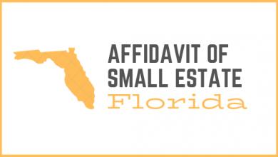 florida affidavit of small estate
