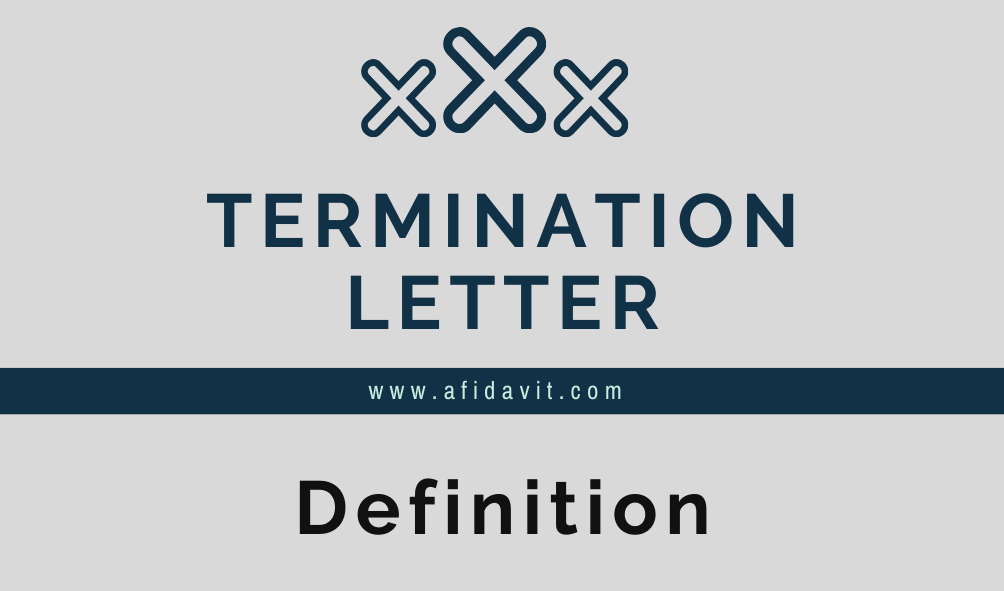 Termination Letter For Cause from afidavit.com