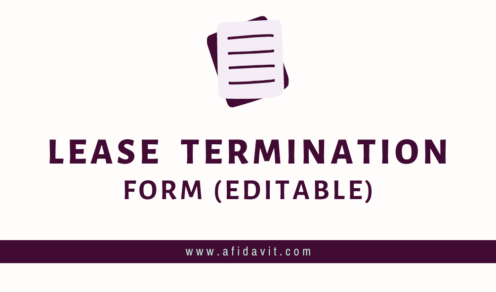 Rental Contract Termination Letter from afidavit.com