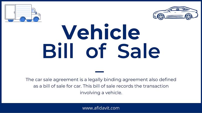 Used Car Bill Of Sales Template from afidavit.com